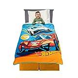 Franco Kids Bedding Soft Plush Micro Raschel Throw, 46' x 60', Hot Wheels