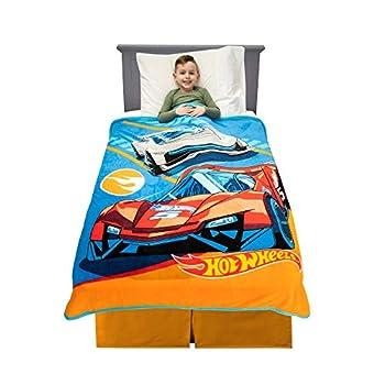 Franco Kids Bedding Soft Plush Micro Raschel Throw 46  x 60  Hot Wheels