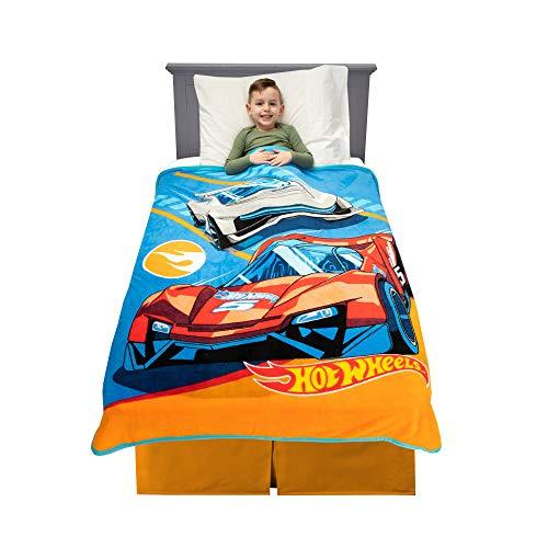 "Franco Kids Bedding Soft Plush Microfiber Throw, 46"" x 60"", Hot Wheels"