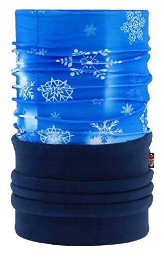 4Fun® Polartec Écharpe multifonction en microfibre pour enfant Motif flocons de neige