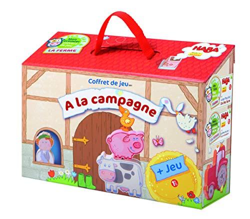 HABA 5891 - Coffret de Jeu A La Campagne - Grand jeu portable à emporter avec 22 pièces en bois (Fabriqué en Allemagne)