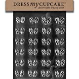 Dress My Cupcake Bite Size - Small Bows Chocolate Mold - M082 - Includes Melting & Chocolate Molding...