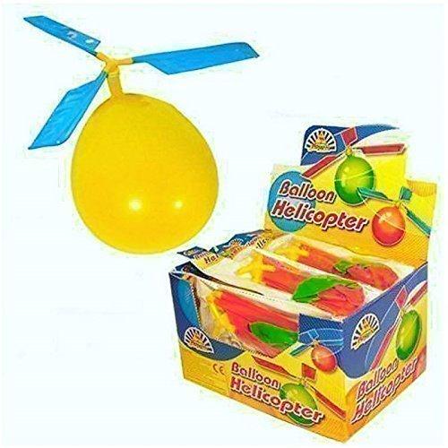 The Home Fusion Company 12 X Enfants Ballon Hélicoptère Volant Kit Remplissage de Sacs à Surprises Intérieur Extérieur Jouet