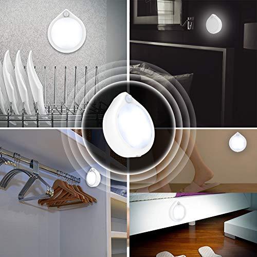 MotionSensorLight, MotionSensorNightLight, Cordless PuckLights with BatteryOperated, Safe Light, Stick Lights for Closet, Hallway, Stair, Cabinet, Kitchen, Garage, Bathroom (3 Pack)