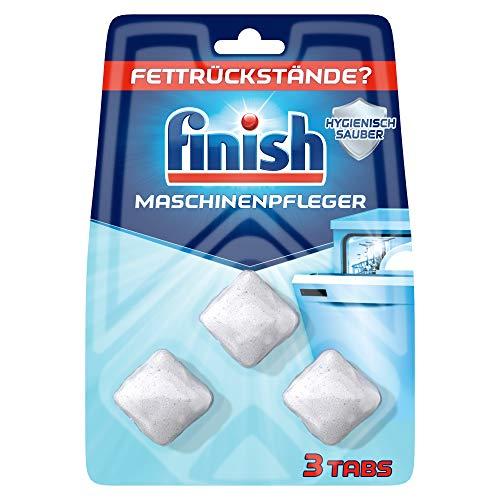Finish Maschinenpfleger Tabs – Spülmaschinentabs gegen Schmutz und Fett im Inneren der Spülmaschine – 1 x 3 Geschirrspülreiniger Tabs