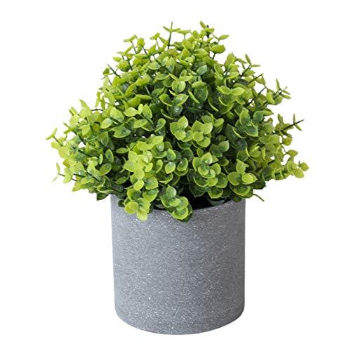 PINBinyee Plantas artificiales para interiores en macetas, maceta artificial para decoración de escritorio de plástico para bodas, fiestas decorativas de simulación bonsai para jardín – 15