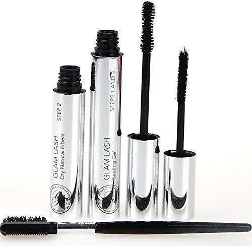 Mascara 3D Effect Fibre Lash 4D Volume Fibres Extension Lashes, Build Richer Longer Thicker Eyelashes, Waterproof, Long Lasting, Smudge Proof Lengthening Sensational Black | Christmas Stocking Stuffer