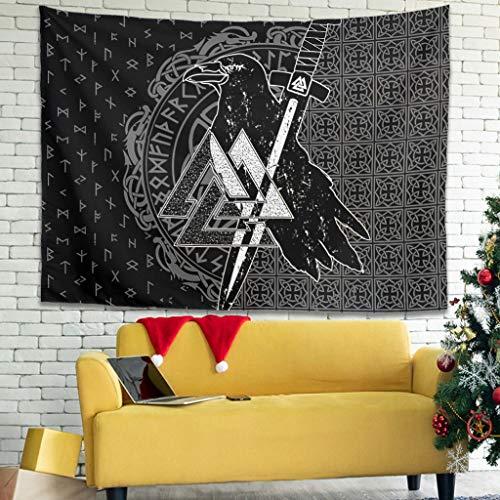 Gaolucky Nordischer Wikinger Hippie Tapisserie Bettwäsche mit ethnische dekorative für Schlafzimmer Wohnheim Dekor White 230x150cm