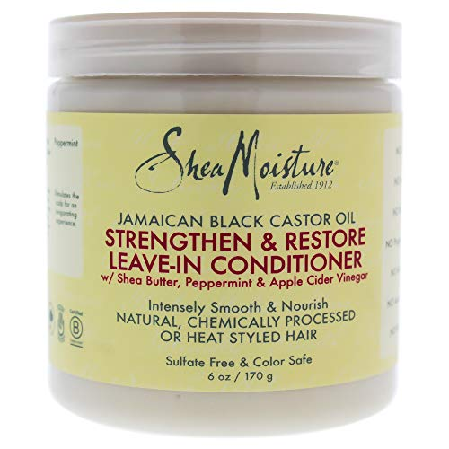 Shea Moisture Jamaican Black Castor Oil Reparative Leave-in Conditioner By Shea Moisture for Unisex - 6 Oz Conditioner, 6 Ounce