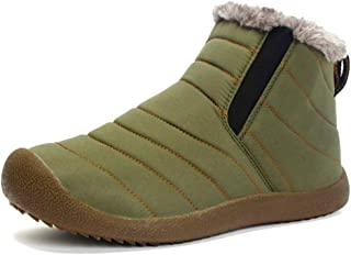 JIEHED Winter Warm Snow Boots, Waterproof Anti-Slip Antiskid Plush Lined Sneaker Shoes for Women Men,Modern Outdoors Climb...