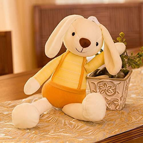 Conejo Peluche Juguete pequeño Conejo Blanco muñeca muñeca Muchacha Muchacha corazón niño Lindo pequeña muñeca,Amarillo,100cm