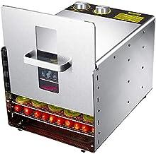 Déshydrateurs pour aliments et saccadés avec modes préréglés de minuterie et plateaux en acier inoxydable à 6 couches pour...