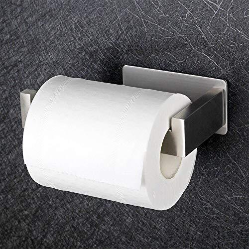 Toilettenpapierhalter Ohne Bohren, Selbstklebend Toilettenpapierrollenhalter Edelstahl Klopapierhalter Wc Halter Rollenhalter Klorollenhalter Papierhalter Hakenstruktur für Küche und Badzimmer