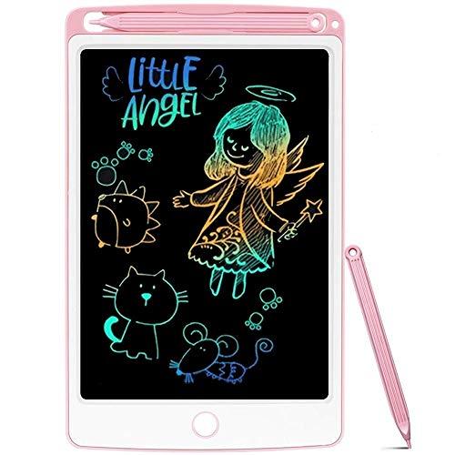 NOBES LCD Tablette D'écriture Coloré 8.5 Pouces, Ardoise Magique Tableau Portable pour l'écriture et Le Dessin sans Papier,Enfants et Adultes Écriture Dessin,Jouet Fille Garçon 3-12 Ans (Rose)