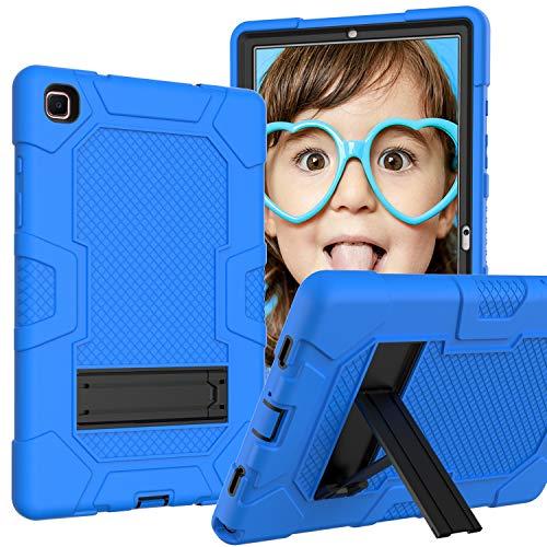 YEYOUCAI Accesorios de tabletas para Samsung Galaxy Tab A7 10.4 T500 / T505 Robot de Color de Contraste a Prueba de Golpes de Silicona + PC Funda Protectora con Titular