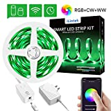 Smart WiFi LED Strip Lights - Lumary RGBWW Color Changing Rope Lights Works with Alexa Google H…