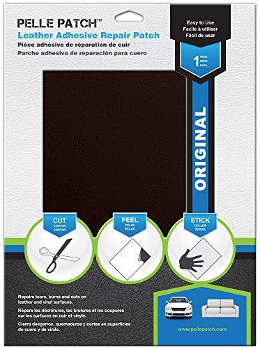 Pelle Patch - Selbstklebender Reparaturflicken für Leder und Vinyl - In 25 Farben erhältlich - Original 20cm x 28cm - Wein