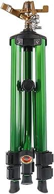 Orbit 58308Z Brass Impact Sprinkler on Tripod Base, Green