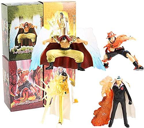 VNNY una Pieza Habilidad del Diablo Edward Newgate Portgas D Ace Borsalino Sakazuki PVC Figura Juguetes 4 unids / Set