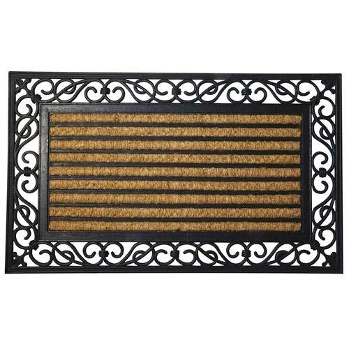 MAURER 5291035 Felpudo Fibra Coco y Goma Rayas 45x75 cm, 45 x 75 cm