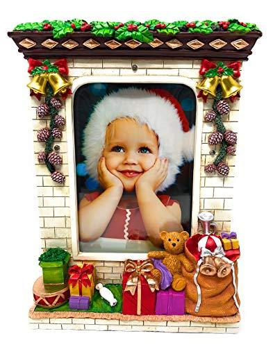 Christmas Picture Frame 5x7 Photo Frames Light Up Pictures Xmas Holiday Seasonal Large Resin LED Lighted Photos Season 2020 Family Keepsake