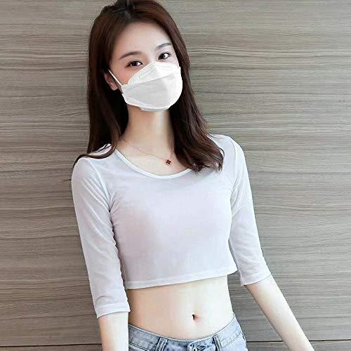 『HINCINK 20枚 個包装マスク 4層構造 不織布 通気性 超快適 立体型マスク 在庫あり (10, ホワイト)』の5枚目の画像