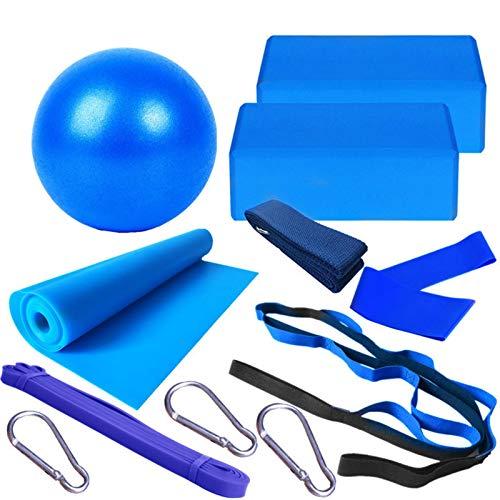 Dacyflower Conjunto de Yoga de Salud y Fitness, 11 Piezas de Equipo para Principiantes, Pelota de Yoga para Ejercicios (10 Pulgadas), para Fitness