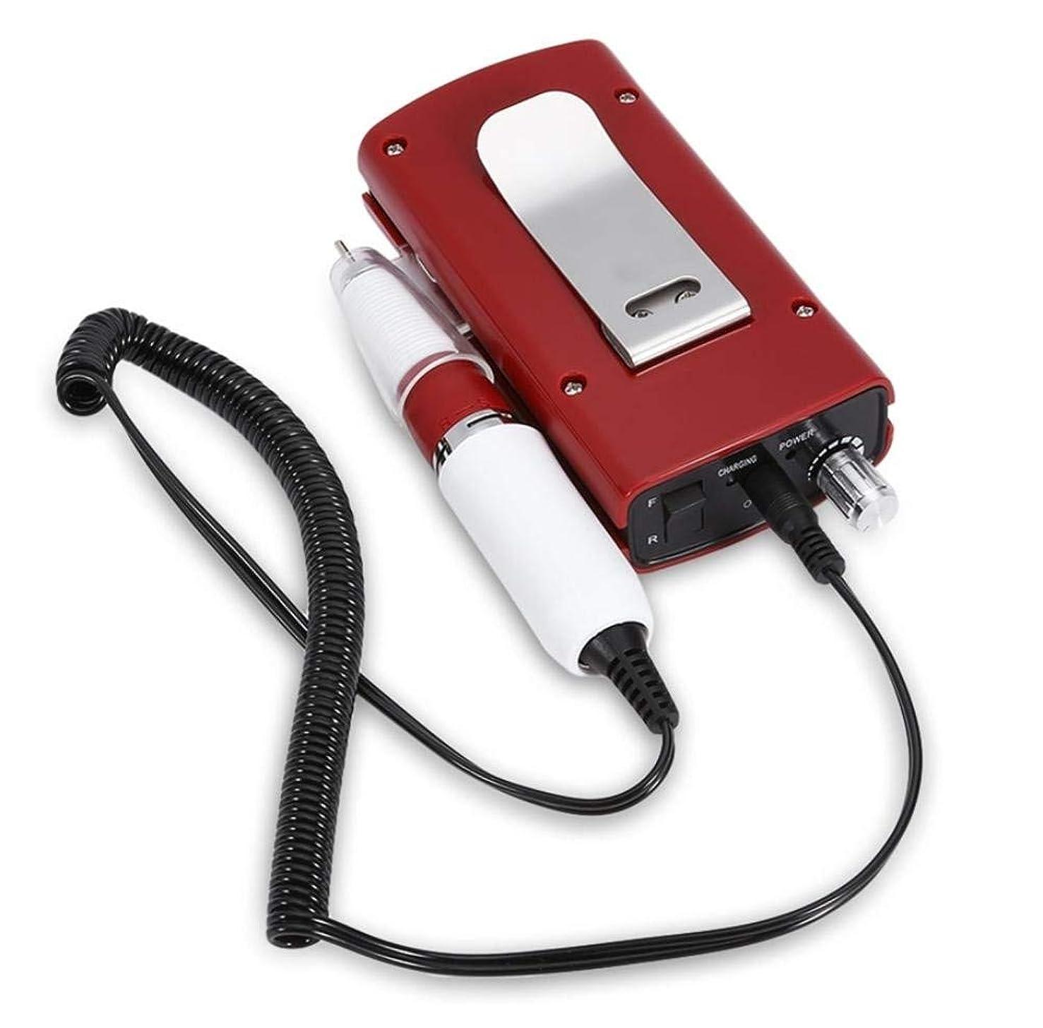 沈黙目の前の唯物論充電式30000 rpmネイルドリル機ポータブルネイルファイル器具用マニキュアペディキュアマシンニスネイルポリッシャードリルビットサンディングバンド3色