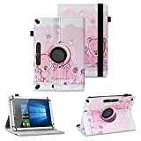 NAUC Tablet Tasche kompatibel für PEAQ PET 100 Schutzhülle Universal Kunst-Leder Hülle Standfunktion 360 Drehbar Cover Hülle, Farben:Motiv 10
