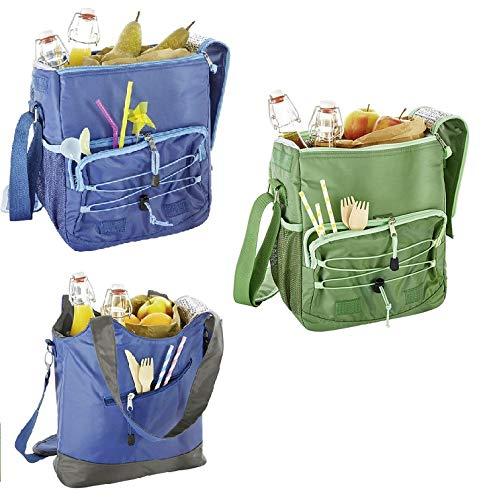 Crivit Kühltasche Kühlbox Lebensmittelkühlung Kühl Tasche Thermotasche Umhängetasche (Handtasche Blau)