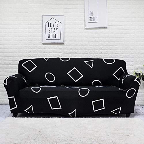 YULINGSTYLE Elastische Sofabezug Baumwolle All-Inclusive Couchbezug F¨¹R Wohnzimmer 1/2/3/4 Sitz Stretch Couch Sofabez¨¹Ge L-Form Ecksofa Sofa¨¹Berwurf NO.8