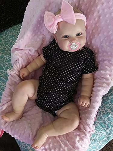 50cm Reborn Baby Doll 20inch Newborn Toddler Real Soft Touch Ma with Hand-Drawing Hair Handmade Doll (Blue Eyes, 20inch)