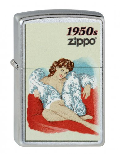 Zippo 2.003.132 Feuerzeuge Pinup Girl 1950 - Collection 2013 - Street Chrom