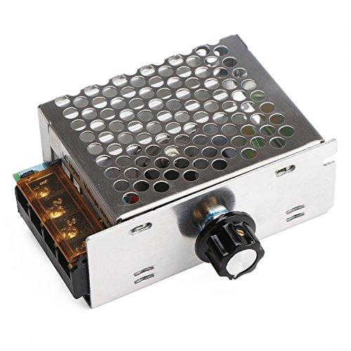 Motor Speed Controller, DROK Motor Control Board AC 110V 4000W Adjustable Voltage Regulator SCR High Power Dimmer Controller Temperature Governor Dimming Monitor