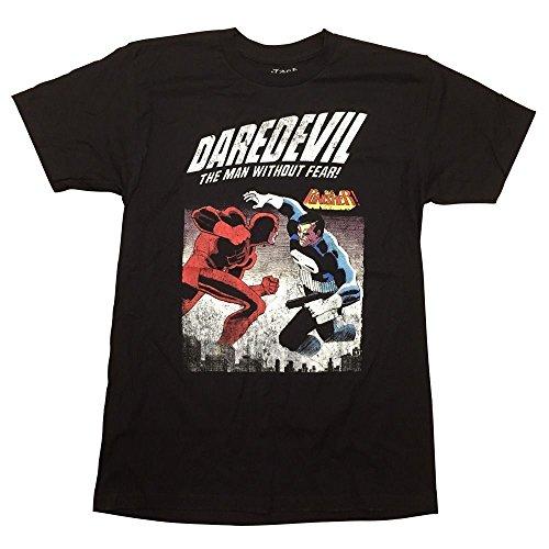 Your Favorite T-shirts Homme Daredevil Vs Punisher Marvel Comics T-Shirt (Petit)