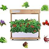 QEGY Jardin En bois d'intérieur Intelligent, Potager Hydroponique, Jardinière en Bois pour Rebord de Fenêtre pour la Cuisine,Cultivez vos Herbes Aromatiques