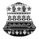EOPRO Bandanas Mascarilla para la cara Diadema Bufanda Headwrap cuello y más – 12 en 1 Multifuncional para festivales de música, Raves, equitación, al aire libre Navidad escandinavo Folk