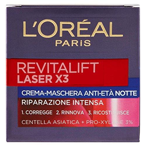 L 'Oreal Revitalift Láser X3crema Máscara Ampollas hidratantes Noche 50ml