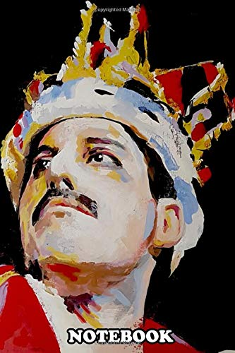 Notebook: Portrait Painting Of Freddie Mercury , Journal for Writing, College Ruled Size 6