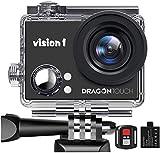 """Dragon Touch Vision 1 Cámara Deportiva 1080P Cámara de Acción con 2"""" Pantalla LCD Control..."""