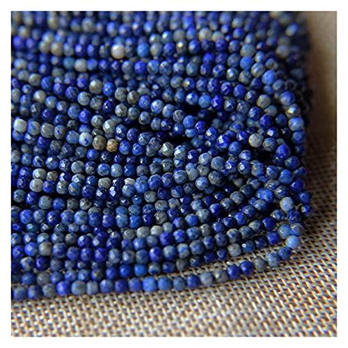AILIDON Decorativo 1 Strand Natural Blue Lapis Lazuli Beads de Piedra 3mm Faceted Charm Beads para Bricolaje Collar de Abalorios Pulseras Jewelety Haciendo hallazgo XA904 (Item Diameter : 3mm 125pcs)