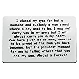 Son Gift from Mom Metal Wallet Insert Card to My Son Inspirational Gift Birthday Graduation Wedding Gift Encouragement Gift Mom to Son Gifts