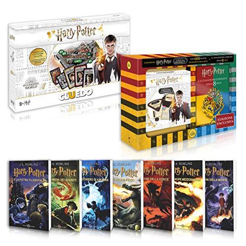 Harry Potter La Saga Completa Libri 1-7 + DVD 1-8 + Trivial Pursuit + Cluedo