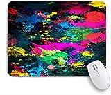 Pad Mouse da gioco, Abstract Art Paint Splash Verniciatura colorata Graffiti, tappetini per mouse in gomma antiscivolo per laptop, computer, casa, uffici Mousepad