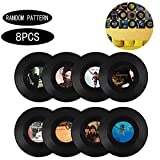 Integrity.1 Vinyl Record Decoration, 8 Pieces Roll Music Party Decorations Record, Vinyl Record Wall Decoration, para la Decoración de Bares, Cafeterías, Tiendas de Postres (7 Pulgadas)