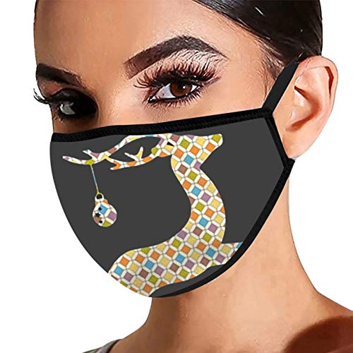 FantaisieZ Mouth and Nasenschutz Damen Herren, Weihnachten 3D Druck Bandana Maske Multifunktionstuch Mehrweg Atmungsaktiv Halstuch Mundschutz mit Motiv