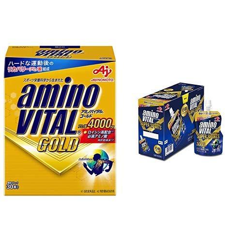 【セット買い】 味の素 アミノバイタル GOLD 30本入箱 & 味の素 アミノバイタル ゼリードリンク SUPER SPORTS 100g×6個