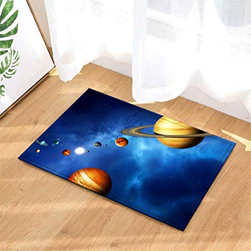 LoExTdAF Planeta En El Universo Alfombras De Puerta.Alfombra Interior.Ducha Alfombras De Entrada De Baño Alfombras Felpudo,Entradas De Piso,Felpudos Antideslizantes,40X60Cm.