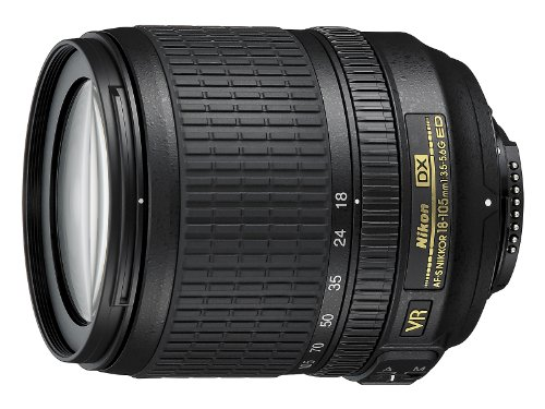 Nikon AF-S DX NIKKOR 18-105mm f/3.5-5.6G ED Vibration Reduction Zoom Lens with Auto Focus for Nikon DSLR Cameras - (New)