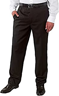 Kirkland Signature Men's Wool Gabardine Flat Front Pant